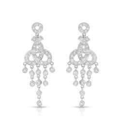 0.75 CTW Diamond Earrings 18K White Gold - REF-96H3M