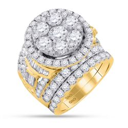 6 CTW Diamond Bridal Wedding Engagement Ring 14KT Yellow Gold - REF-719W9K