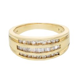 1.04 CTW Diamond Ring 14K Yellow Gold - REF-61X3R
