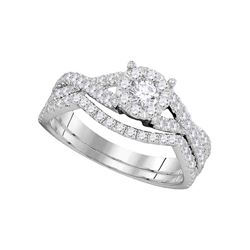 0.75 CTW Diamond Princess Bridal Engagement Ring 14KT White Gold - REF-109Y4X