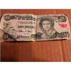 Bank Of The Bahamas One Dollar Bill