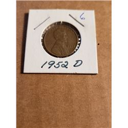 1952 D Wheat Penny