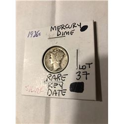 Rare Key Date 1926 S Mercury Silver Dime Nice Early US Dime