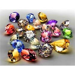 Bag of 10 Total Assorted GEMSTONES Mixed out of Safe Box