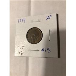 1899 Indian Head Penny Extra Fine High Grade