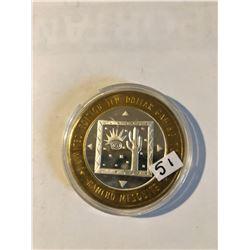 Silver Strike $10 Casino Coin .999 Fine Silver Limited Edition RANCHO MESQUITE *CACTUS & SUN* Mesqui