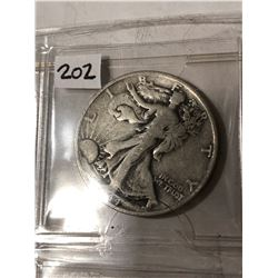 1944 S Silver Walking Liberty Half Dollar Nice Early US Coin