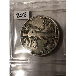 1943 S Silver Walking Liberty Half Dollar Nice Early US Coin