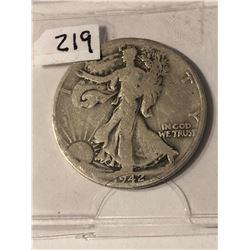 1942 D Walking Liberty Silver Half Dollar Nice Early US Coin