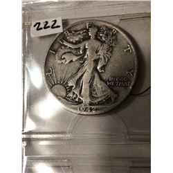 1942 D Silver Walking Liberty Half Dollar Nice Early US Coin