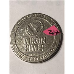 Virgin River 1 Dollar Casino Coin Mesquite Nevada