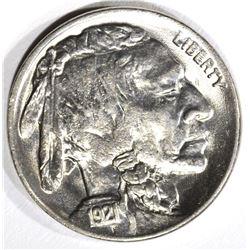 1921 BUFFALO NICKEL, GEM BU