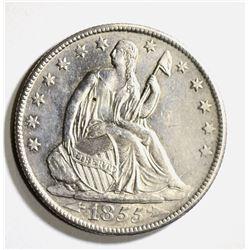 1855-O WITH ARROWS SEATED HALF, CH BU