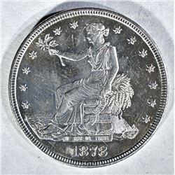 1878-S TRADE DOLLAR, CH BU