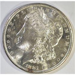 1881-S MORGAN DOLLAR, CH BU SEMI PL
