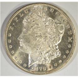 1879-S MORGAN DOLLAR, GEM BU PL