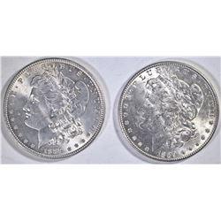 (2) 1889 MORGAN DOLLARS  CH BU
