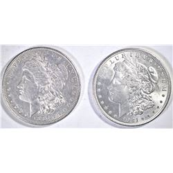 1921 & 1881-O MORGAN DOLLARS  CH BU