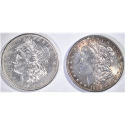 1878-S & 1888 MORGAN  DOLLARS  CH BU