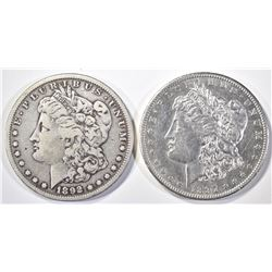 1897-S BU & 1892-S FINE KEY DATE MORGAN DOLLARS