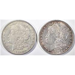 1896 CH BU & 1921-S AU MORGAN DOLLARS