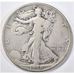 1938-D WALKING LIBERTY  XF