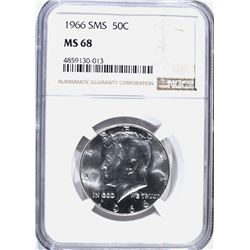 1966 SMS KENNEDY HALF DOLLAR NGC MS-68