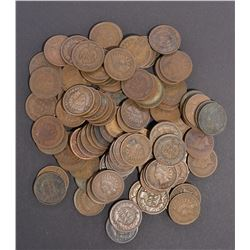 100-CIRC MIXED DATE INDIAN CENTS