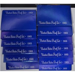 10-1968 & 3-1969 U.S. PROOF SETS IN ORIG PACKAGING