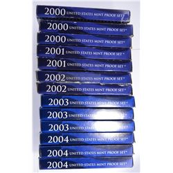 U.S. CLAD PROOF SETS FROMK THE 2000'S: