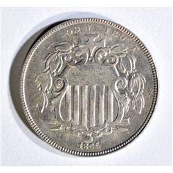 1866 WITH RAYS SHIELD NICKEL CH BU