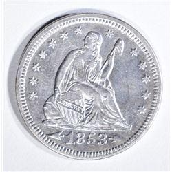 1853 ARROWS & RAYS QUARTER CH AU