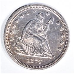 1877 SEATED LIBERTY QUARTER CH BU