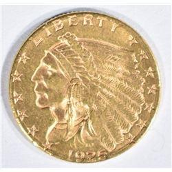 1925-D $2.5 GOLD INDIAN BU