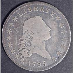 1795 FLOWING HAIR HALF DOLLAR, FINE a few marks