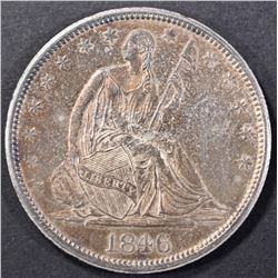 1846-O SEATED LIBERTY HALF DOLLAR CH ORIG UNC