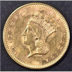 1857 GOLD DOLLAR BU