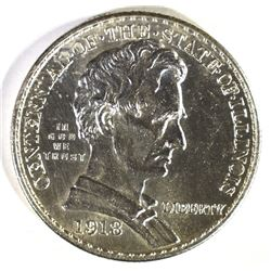 1918 LINCOLN COMMEM HALF DOLLAR, , CH BU