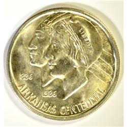 1936-S ARKANSAS COMMEM HALF DOLLAR, GEM BU