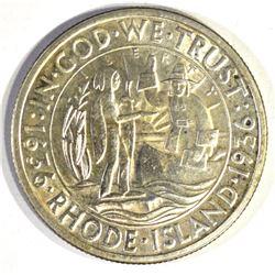 1936 RHODE ISLAND COMMEM HALF DOLLAR, GEM BU