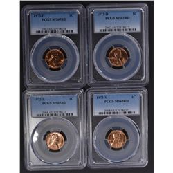 2-1985 & 3-85-D LINCOLN CENTS, NGC MS-67 RED