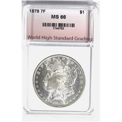 1878 7TF MORGAN DOLLAR, WHSG SUPERB GEM BU
