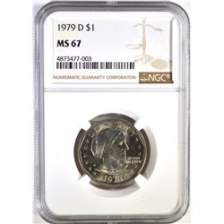 1979-D SBA DOLLAR, NGC MS-67