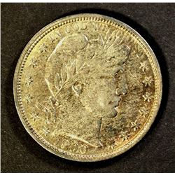1900-O BARBER HALF DOLLAR, AU WITH LUSTRE