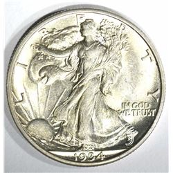 1934-S WALKING LIBERTY HALF DOLLAR, CH BU+