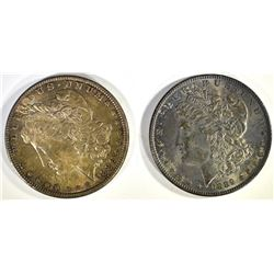 1886 & 1889 TONED CH BU MORGAN DOLLARS