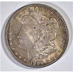 1896 MORGAN DOLLAR CH BU COLOR!