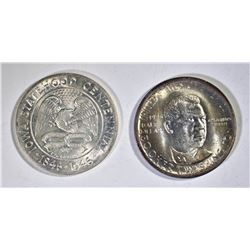 1946 IOWA & 1946-S BTW COMMEMS GEM BU