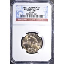 2009-D SMS ZACHARY TAYLOR DOLLAR NGC SMS MS-69