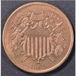 1865 2 CENT PIECE BU RB